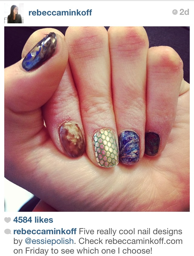 Rebecca Minkoff fall 2013 nail options essie