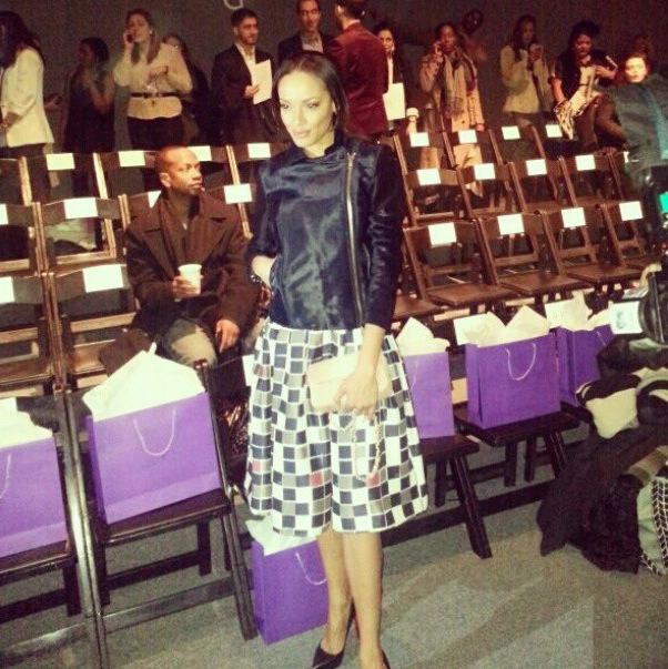 Selita Banks noon by noor fashion week fall front row 2013