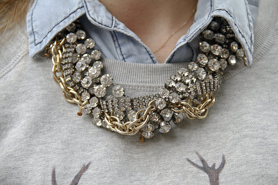 Statement bold necklace what to wear fashion week