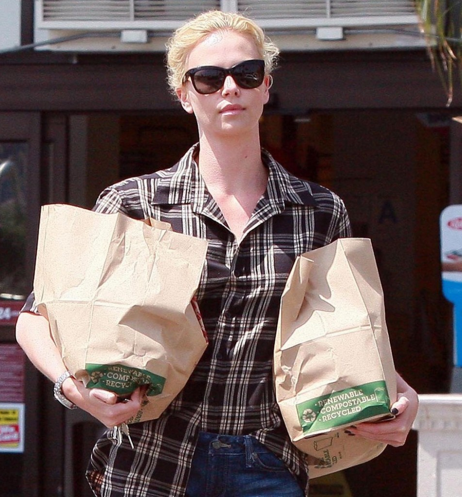 EXCLUSIVE: Charlize Theron Out Grocery Shopping In West Hollywood
