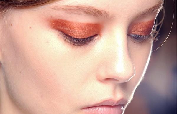Copper Eyeshadow Smokey Eye at Chloe Spring 2013 Paris Fashion week