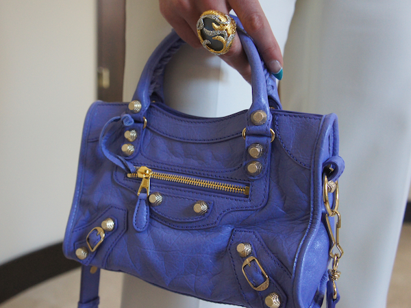 Balenciaga Mini Giant 12 Golden City Bag, Mauve