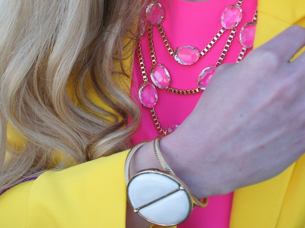 Orange color block spring Neiman Marcus CUSP jewelry