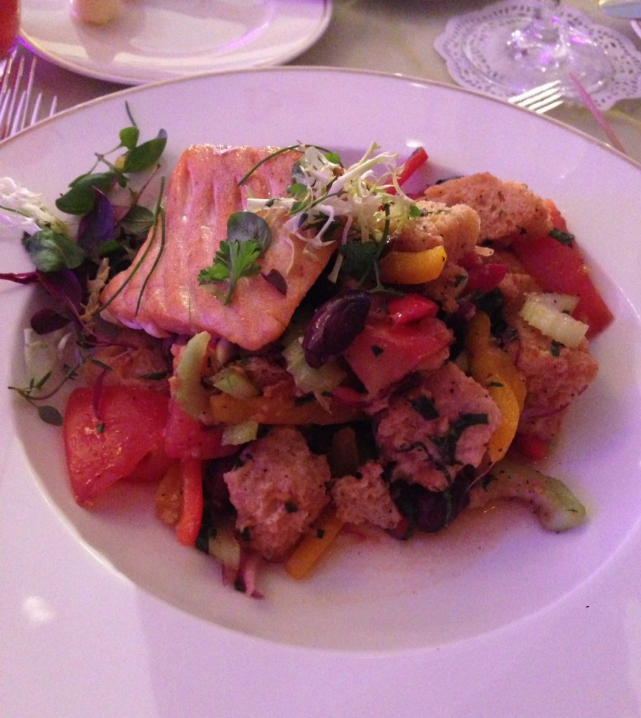 Panzanella Salmon Salad At US Grant