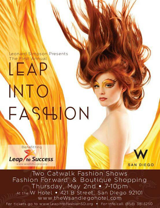 Leap Into Fashion In San Diego As Leonard Simpson Presents At The W Hotel