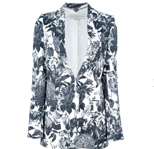 Stella McCarney floral black and white blazer