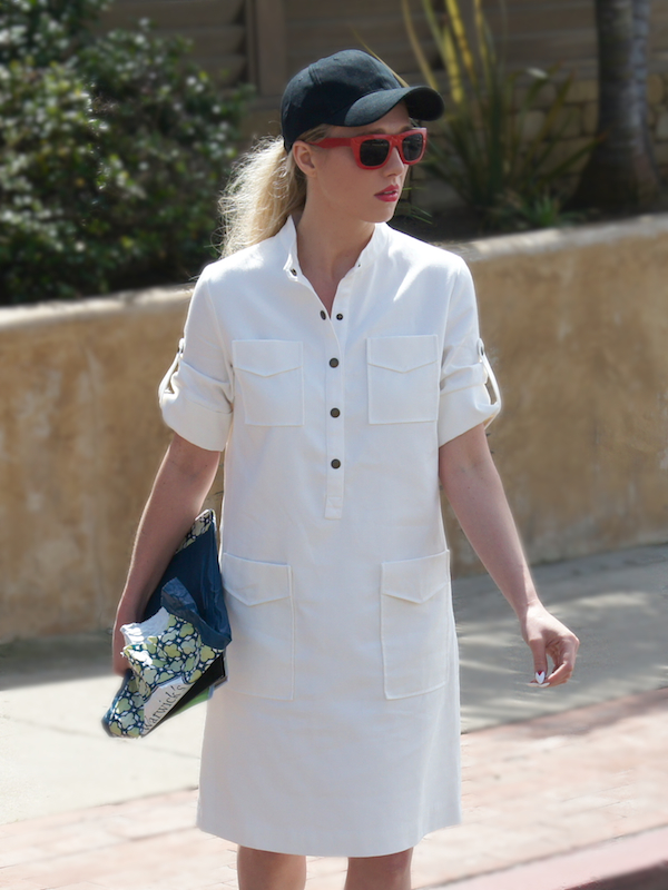How to wear a baseball cap with a dress
