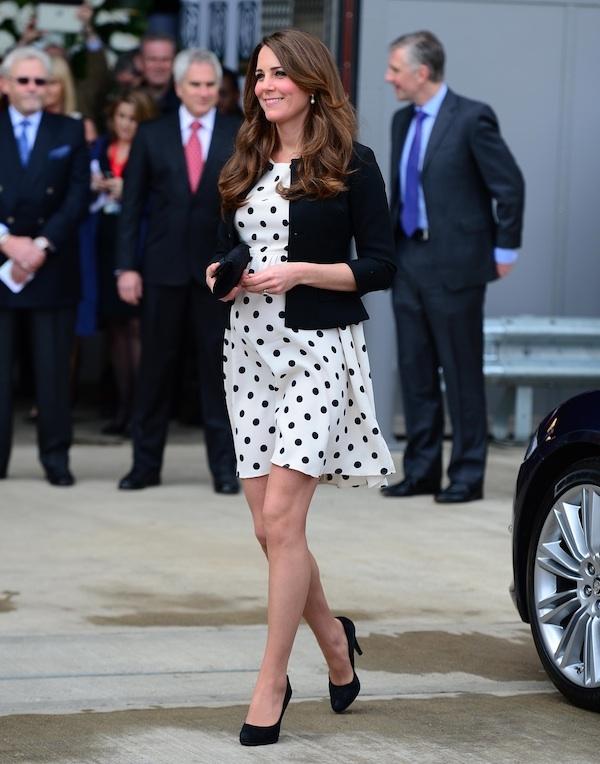 Kate Middleton wears Topshop polka dot dress