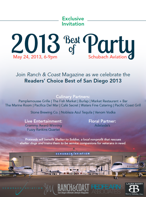 Best Of San Diego Party: Support Veterans This Memorial Day Weekend At Schubach Aviation's Hanger