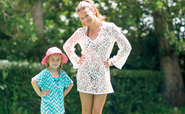 Olivia Palermo Wears Printed Shorts For Summer In The Hamptons