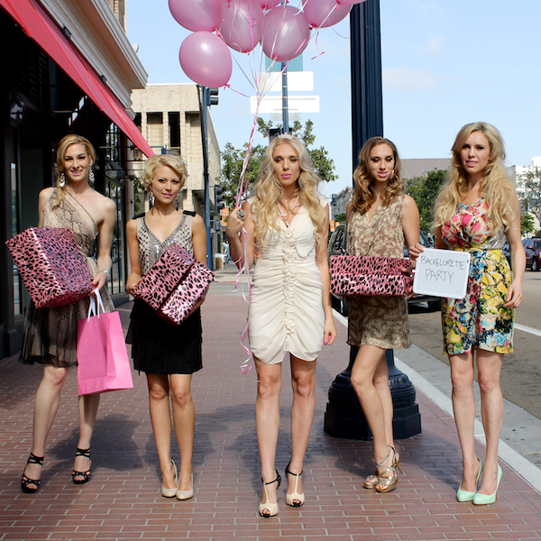 Nubry Bachelorette Party At Andaz Hotel - Balloons in Melero Boutique Dresses
