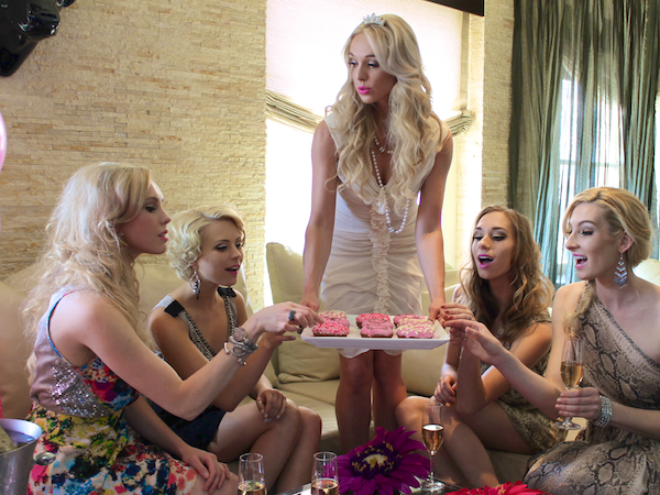 Nubry Bachelorette Party at Andaz San Diego - Donut Bar Pink
