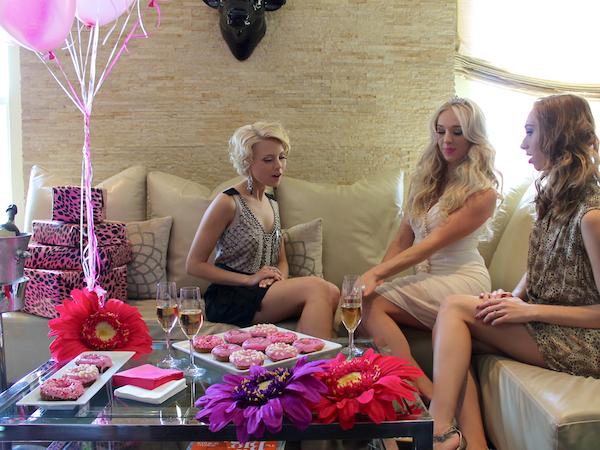 bachelorette party ideas - classy theme - pink decorations - san diego - Andaz Hotel Rockstar Suite