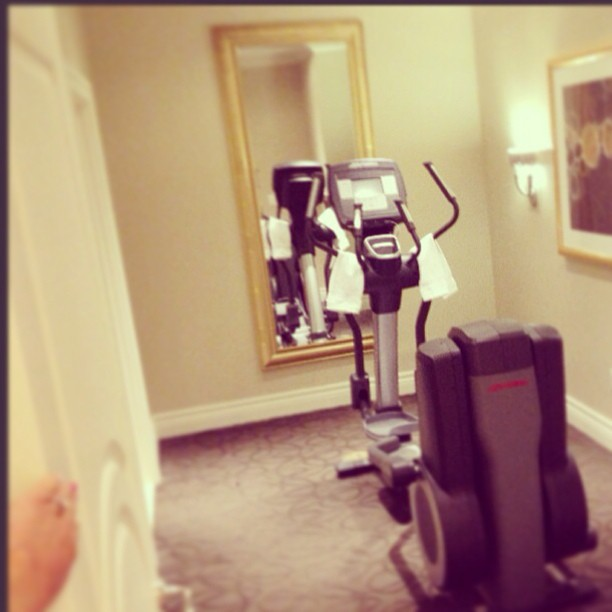 elliptical machine in the Lago Suite at The Palazzo