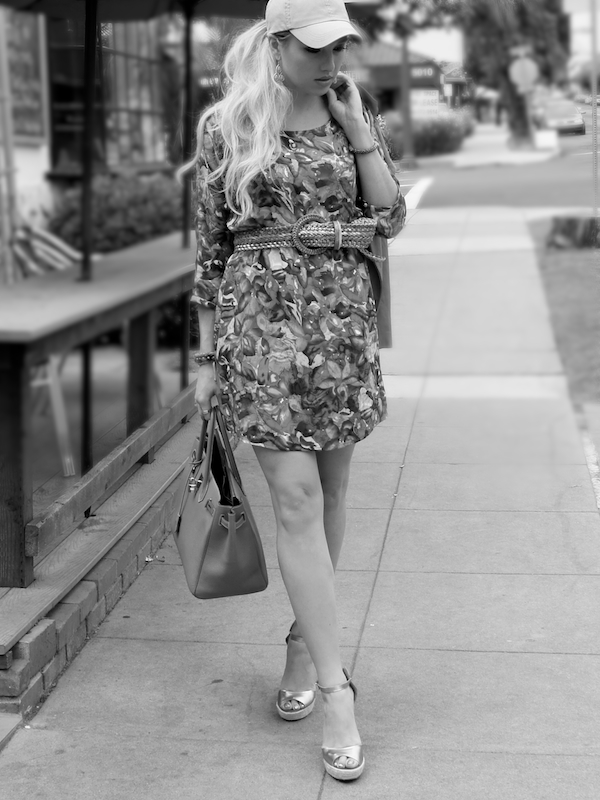how to wear a floral babydoll dress