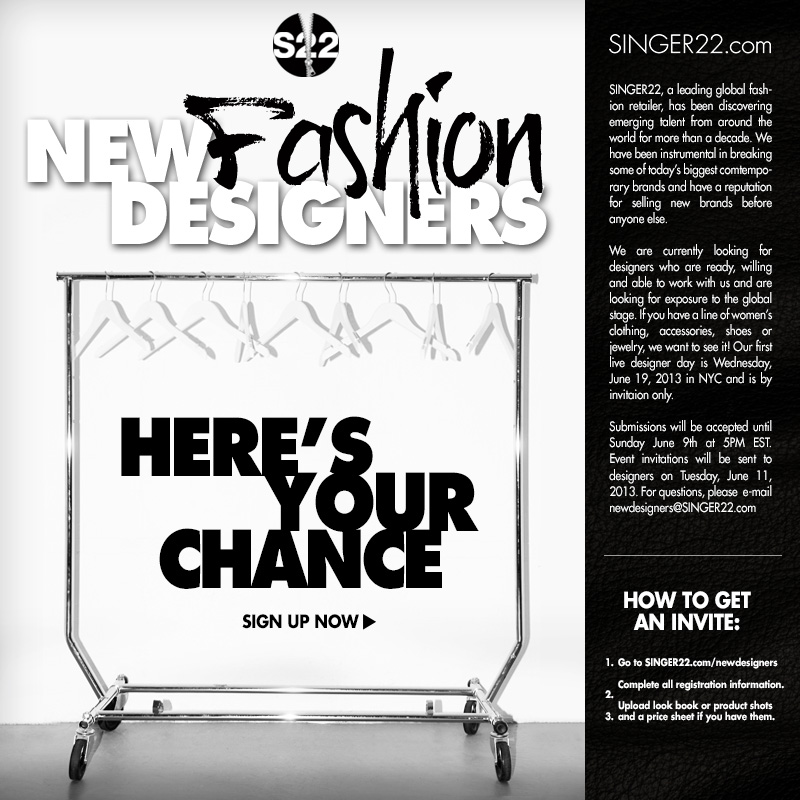 Singer22 Wants To Promote Up And Coming Fashion Designers It Could Be You Nubry