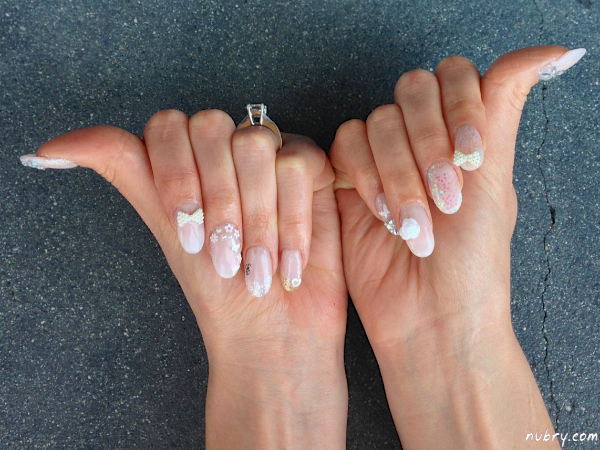 Bridal Nails with 3D Nail Art For My Wedding