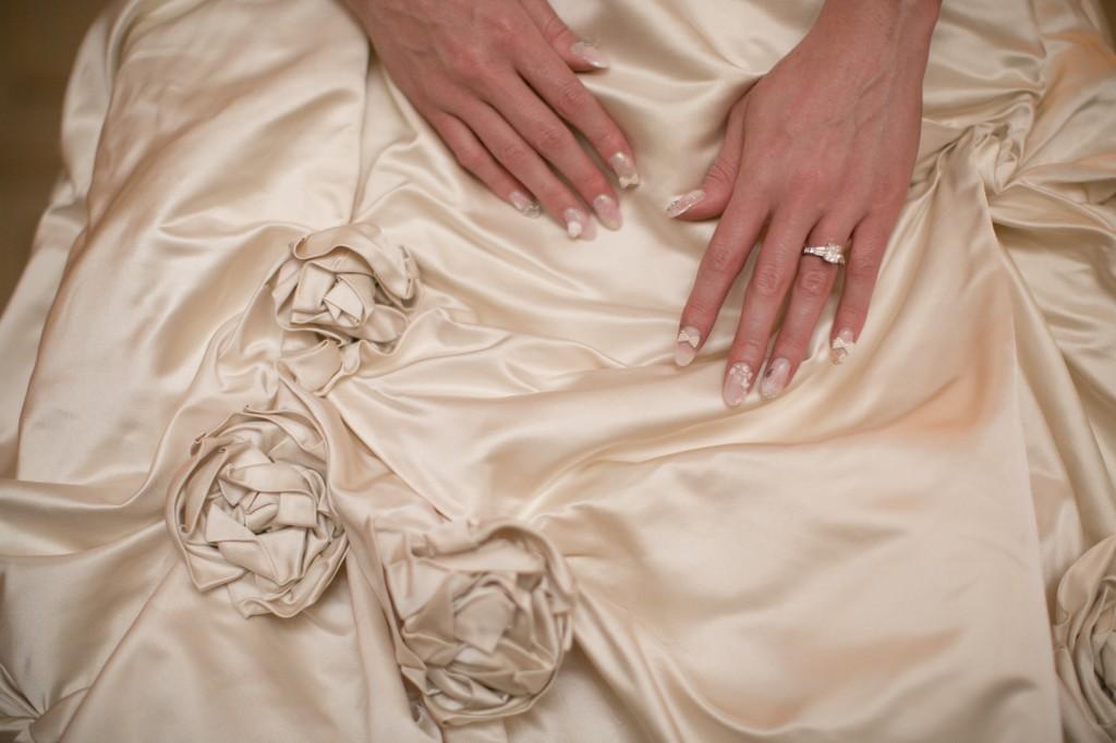 Bridal Nails - wedding ideas - 3d nail art - nubry wedding