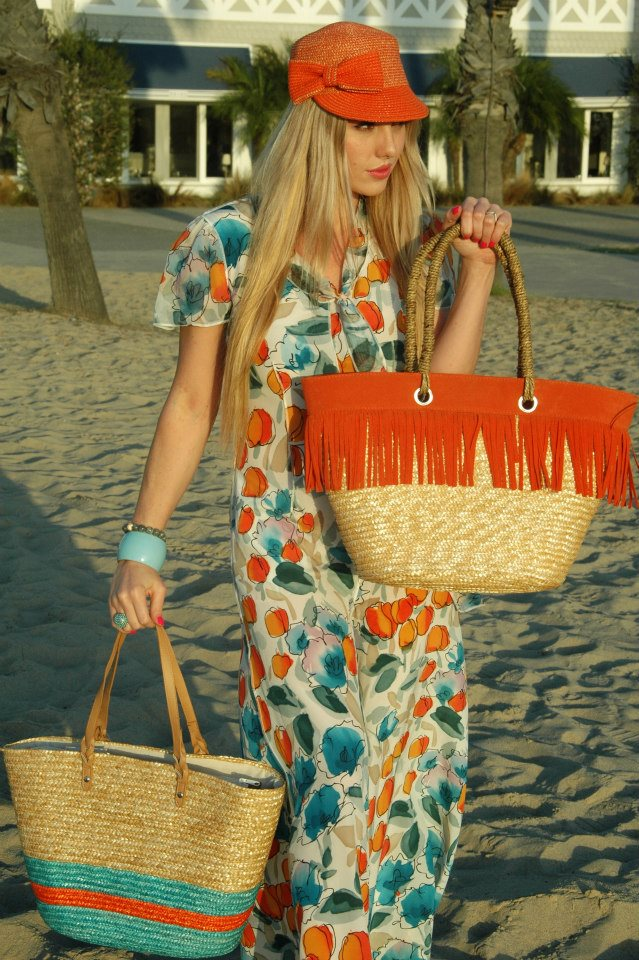 Under $50: Add A Pop Of Color With A Magid Straw Bag And Hat