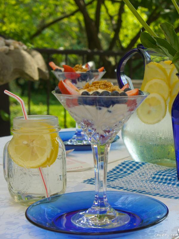 Healthy Vegan Dessert Recipe: Vanilla Bean Fruit Parfait In A Martini Glass