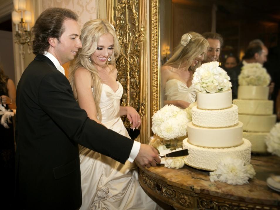 Classic Romantic Wedding Theme - Ballroom Cake Cutting.jpg
