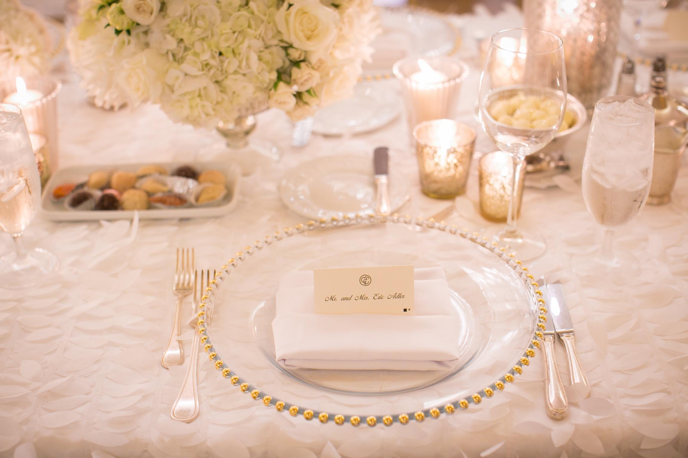 Classic Romantic Wedding Theme - Ballroom Table Setting (1)