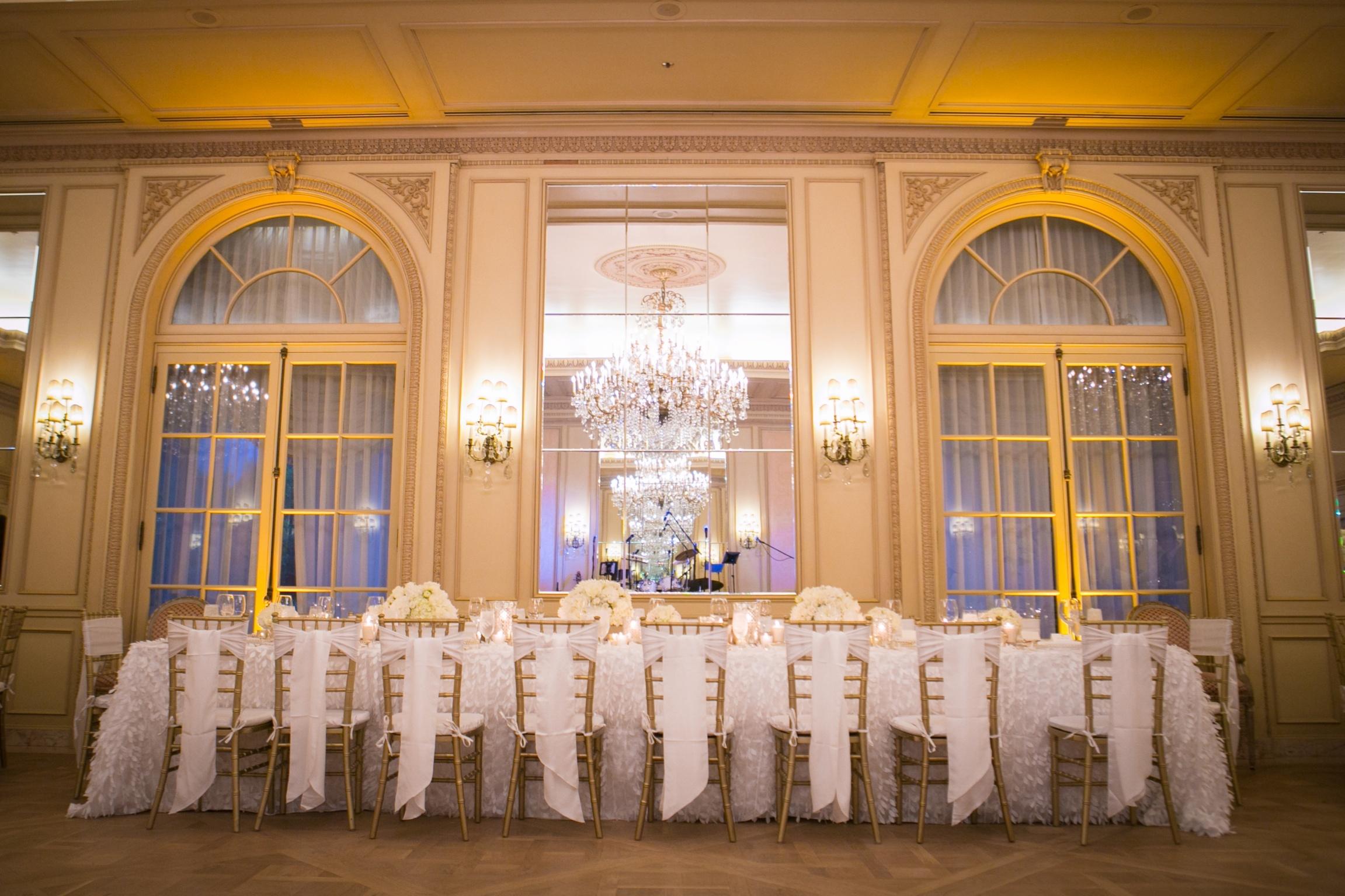 Romantic Classic  Wedding Theme - Ballroom Table Setting