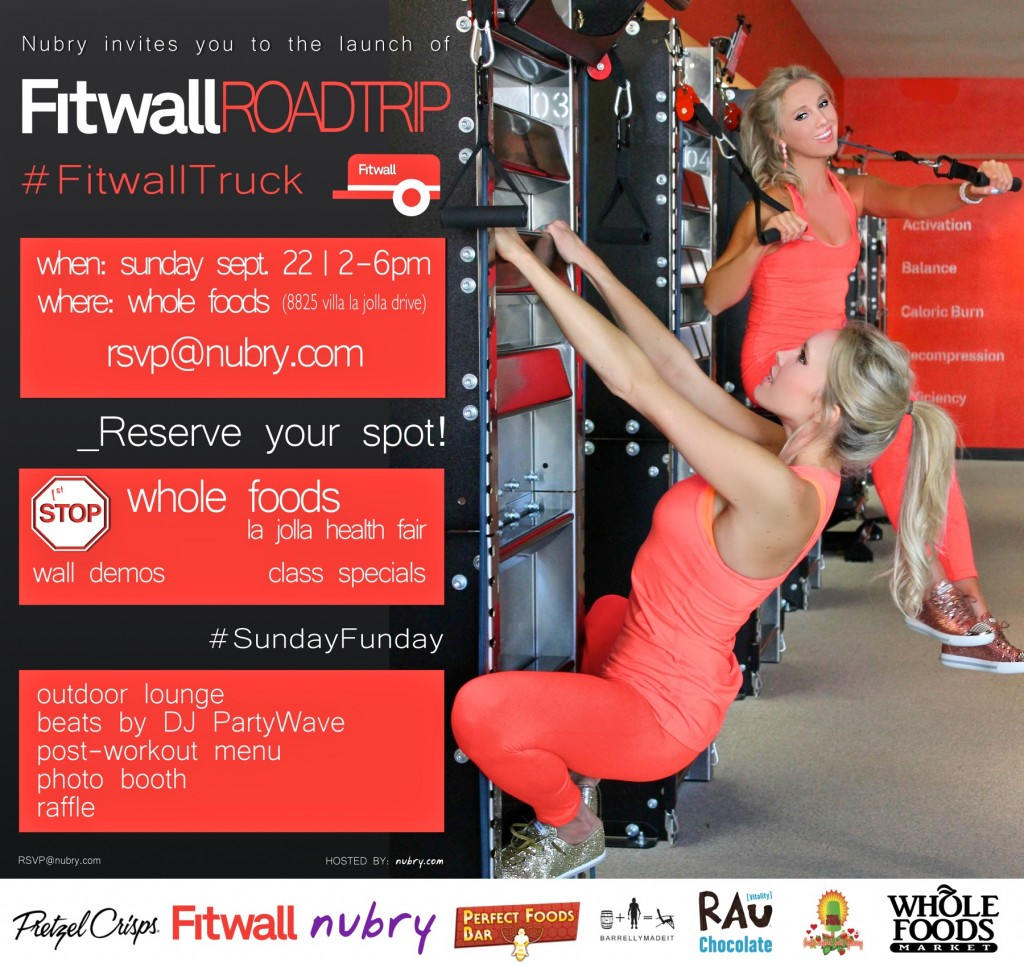 Fitwall Roadtrip Launches Sunday At Whole FOods La JOlla #fitwalltruck