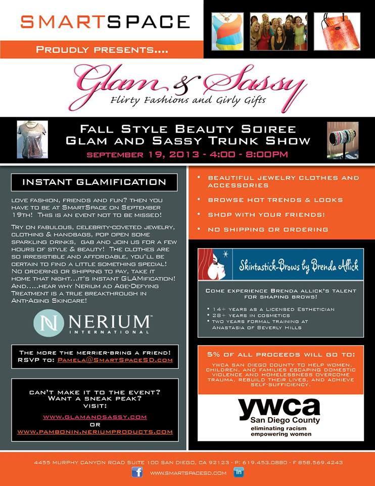 September 19: Glam And Sassy Shopping Event To Support YWCA In San Diego