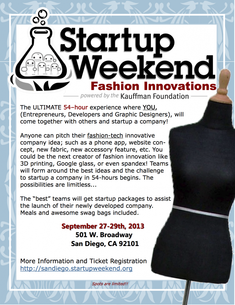 Startup Weekend Fashion Innovations Launches In San Diego