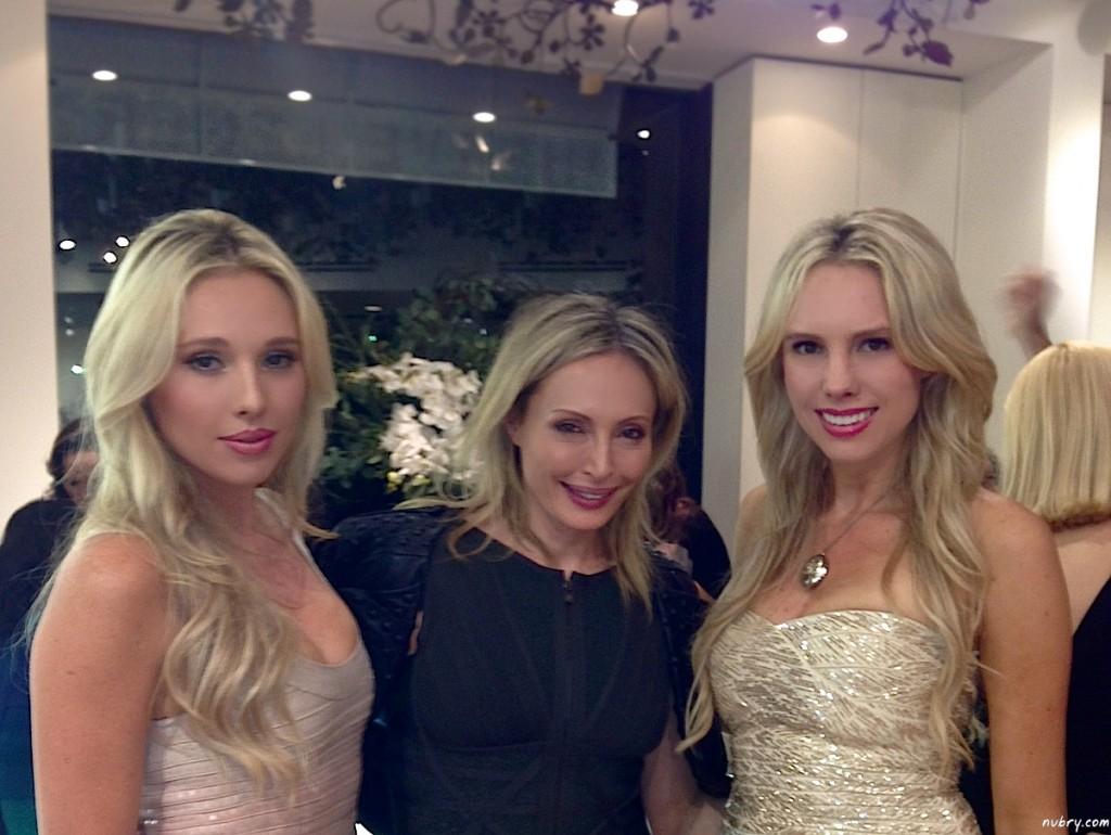 With Lubov Azria at the launch party!