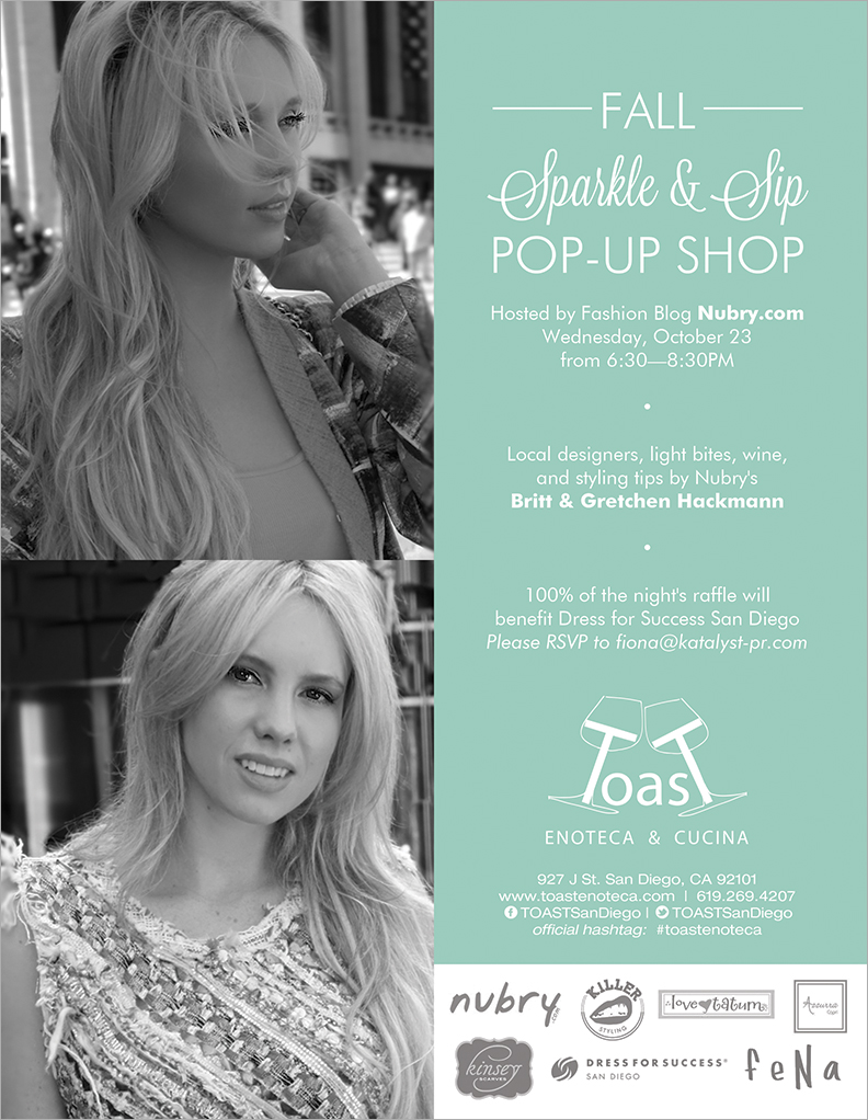 You're Invited: Shop For A Cause With Nubry At Toast Enoteca Pop-Up Shop