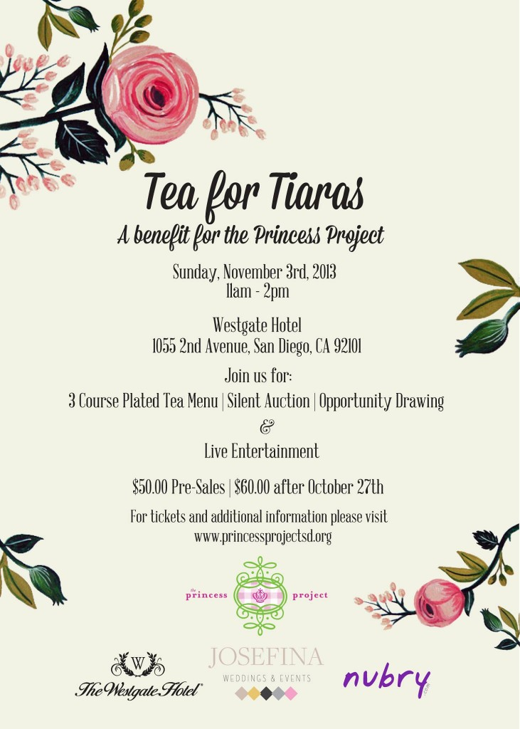 You Re Cordially Invited To Tea For Tiaras Supporting The Princess
