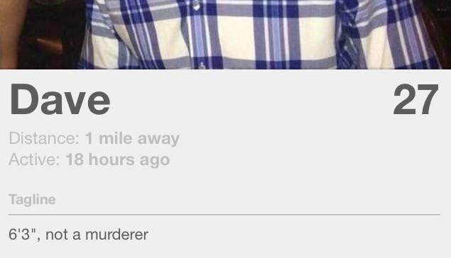 Tinder not a murderer