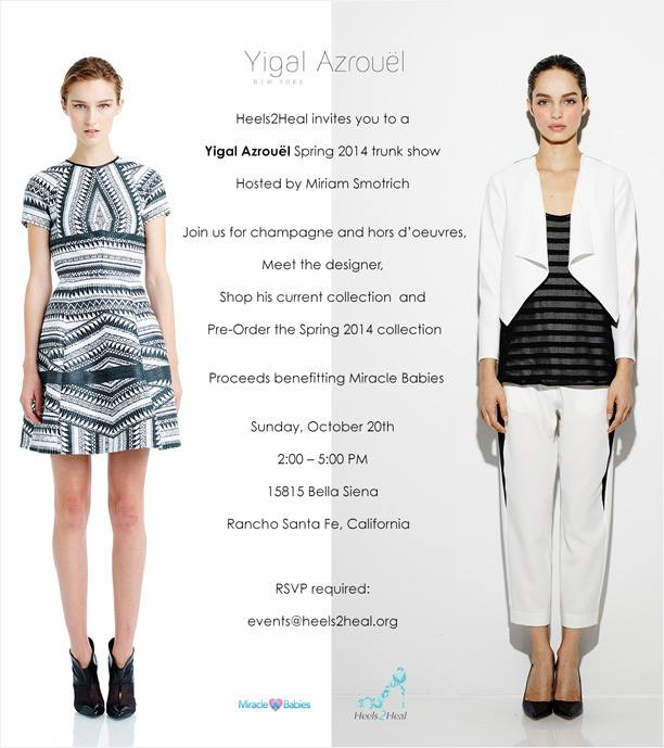 Heels2Heal Gala In La Jolla With Yigal Azrouel Fashion Show Supports Miracle Babies