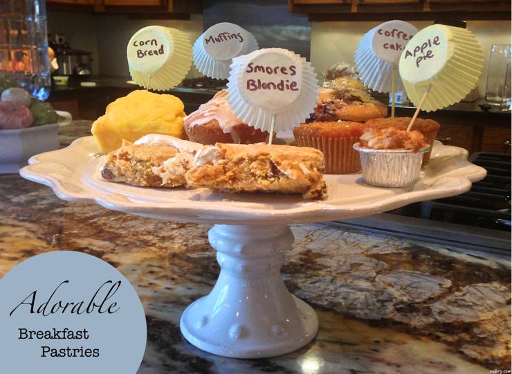 Breakfast Ideas - cute pastry display