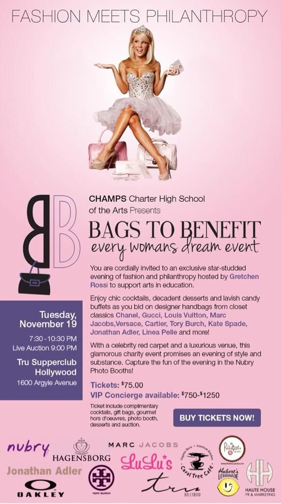 Designer Handbag Charity Party With Gretchen Rossi: Bags To Benefit In LA