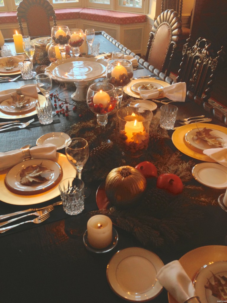DIY thanksgiving table setting or seat setting nubry 11