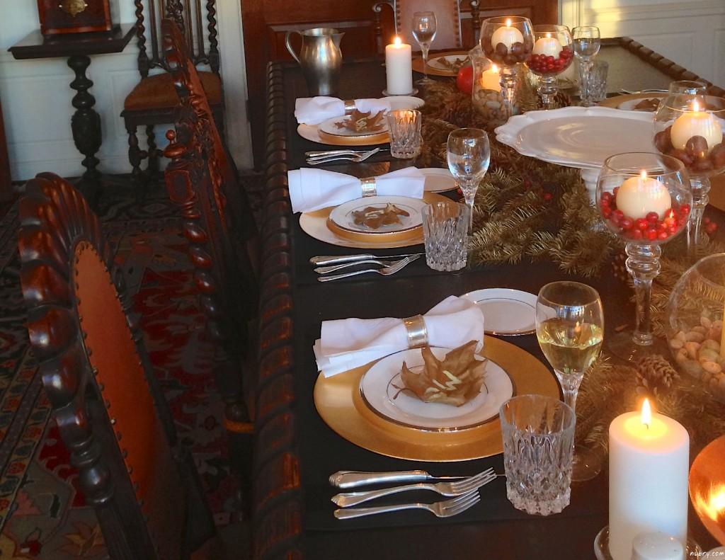 DIY thanksgiving table setting or seat setting nubry 12