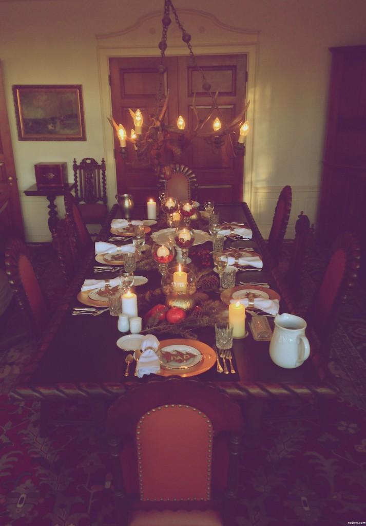 DIY thanksgiving table setting or seat setting nubry 14