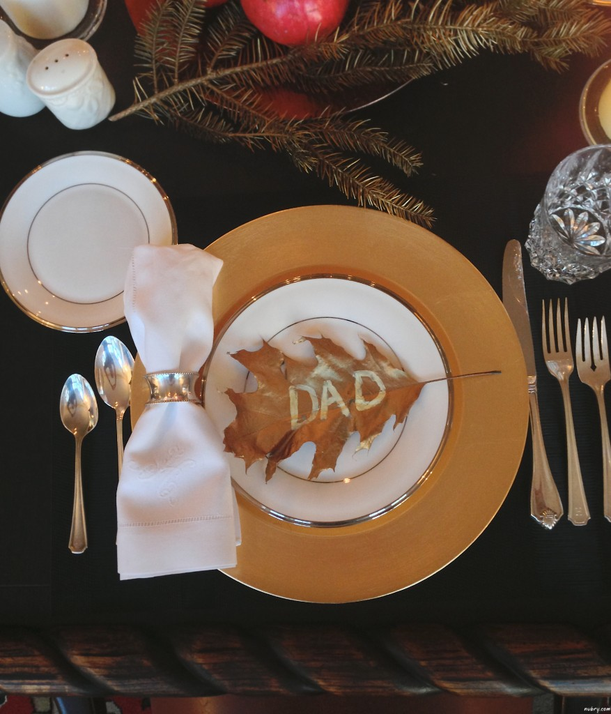 DIY thanksgiving place settings or table setting - nubry