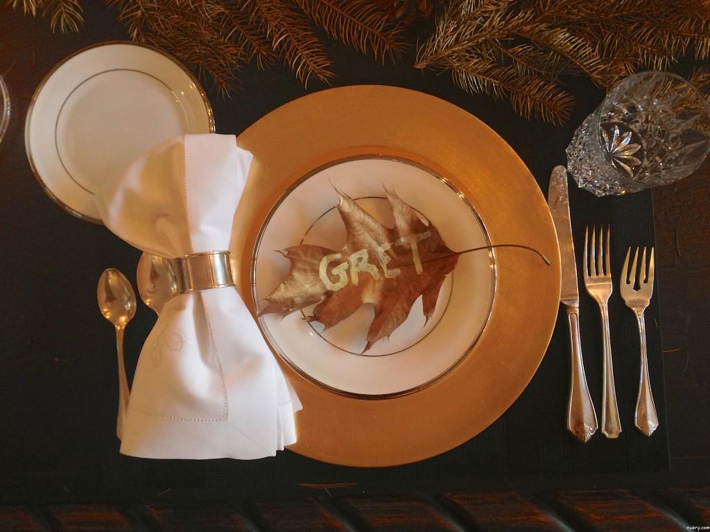 DIY thanksgiving table setting or seat setting nubry 6