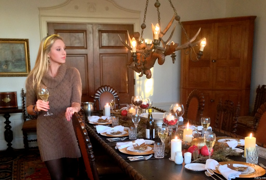DIY thanksgiving table setting or seat setting nubry 8