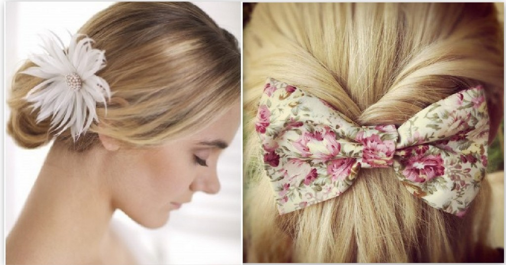 HairAccessories_BowFlower 8 Hair Accessories And Easy Styling Tips For A Bedhead To Top Knot Bun