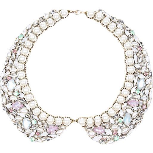 peter pan collar dress - gem collar