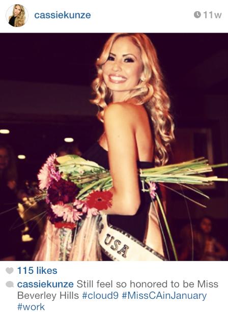 Cassandra Cassie Kunze - Miss California USA 2014 - Miss Beverly Hills 2014