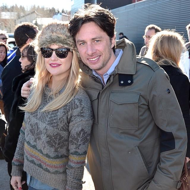 Kate Hudson at Sundance Film Festival - wearing winter sweater trapper fur hat sundance