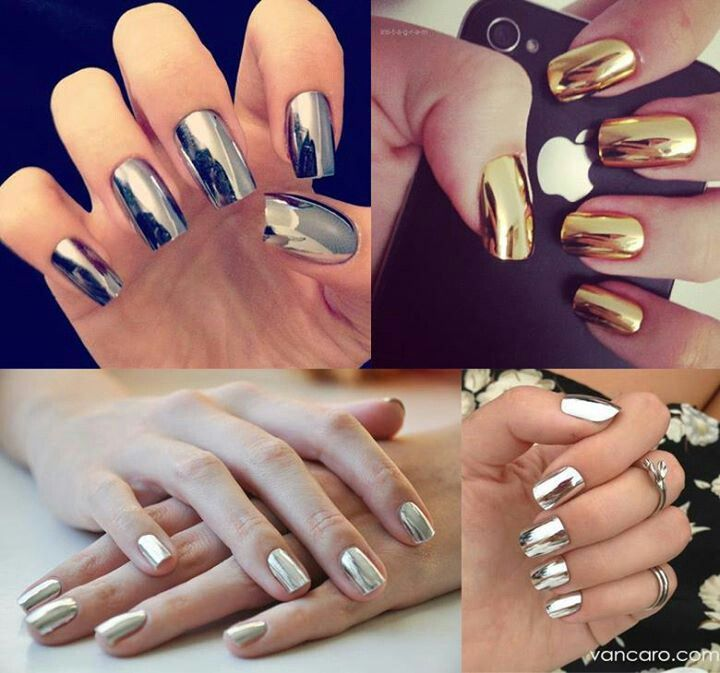 Top Nail Design Trends - Metallic