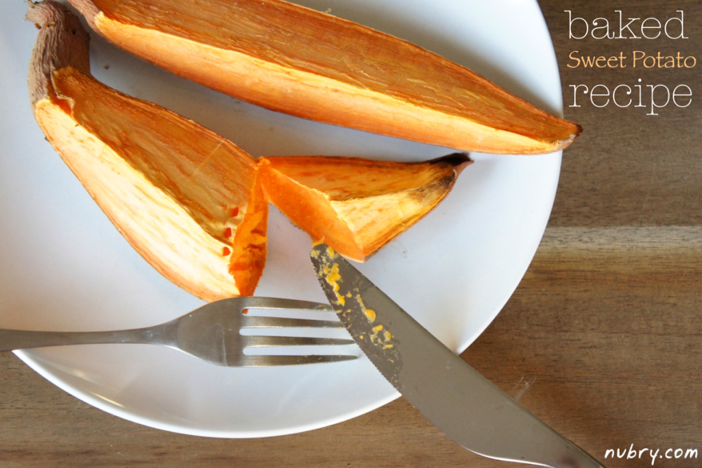 healthy baked sweet potato snack