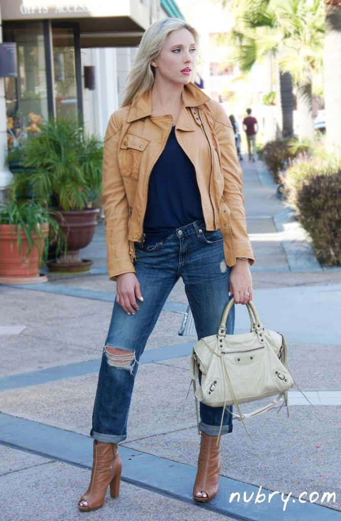 How to wear a leather jacket from day-to-night
